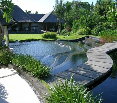 Jasa Dekorasi Pembuatan Kolam Ikan Design Villa Bandung