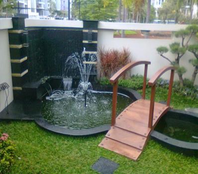 Jasa Dekorasi Pembuatan Kolam Ikan Minimalis Bandung