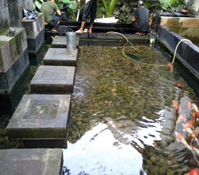 Jasa Dekorasi Pembuatan Kolam Ikan Perhotelan Bandung