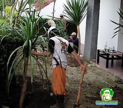 Pembuatan Taman proses cepat