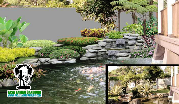 jasa dekorasi taman kolam ikan bandung