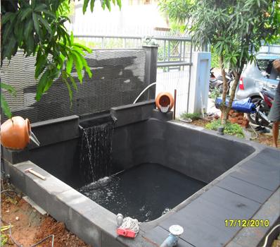 Jasa Dekorasi Pembuatan Kolam Ikan mas Bandung