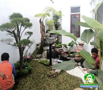 Pembuatan Taman villa bandung